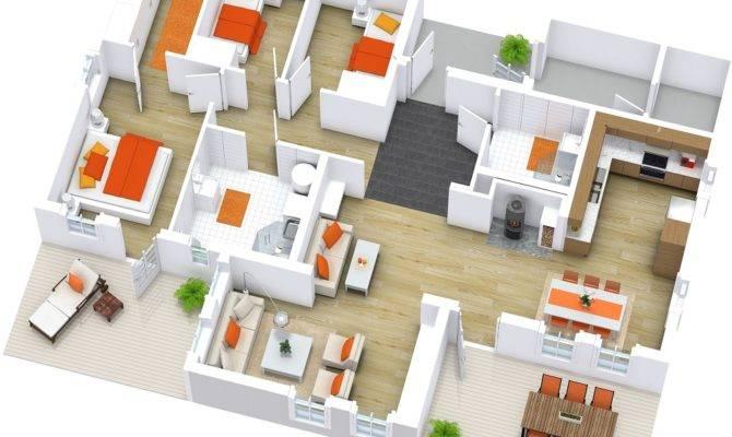 Modern House Floor Plans Roomsketcher