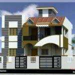 Modern House Front Side Design India Elevation