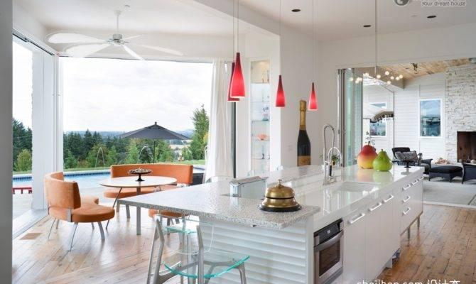 Modern House Interior Design Open Plan Kitchen Renovation Renderings