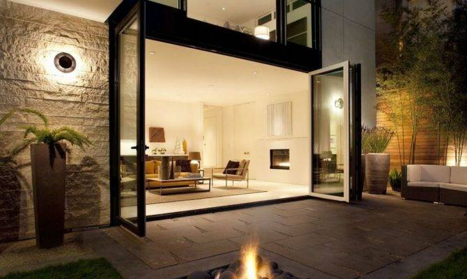 Modern House Outdoor Automatic Fireplace