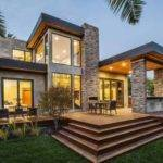 Modern House Outfitted Grey Stucco Siding