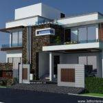 Modern House Plan Front Elevation Design Tulip Corner Plot