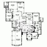 Modern House Plan Sweeping Staircase Square Feet