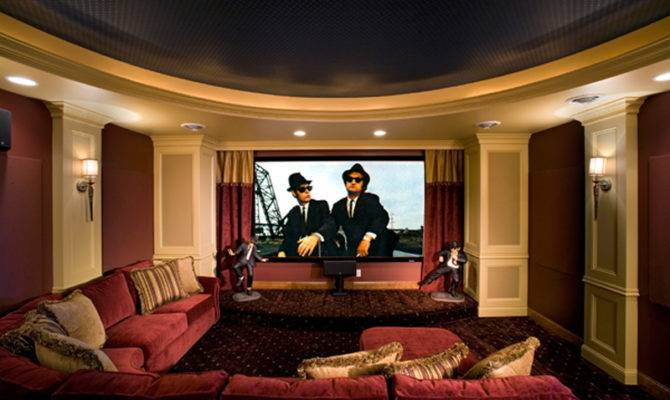 Modern House Plan Theater Room Plans