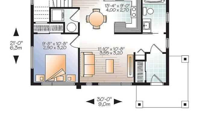 Modern House Plan Total Living Area