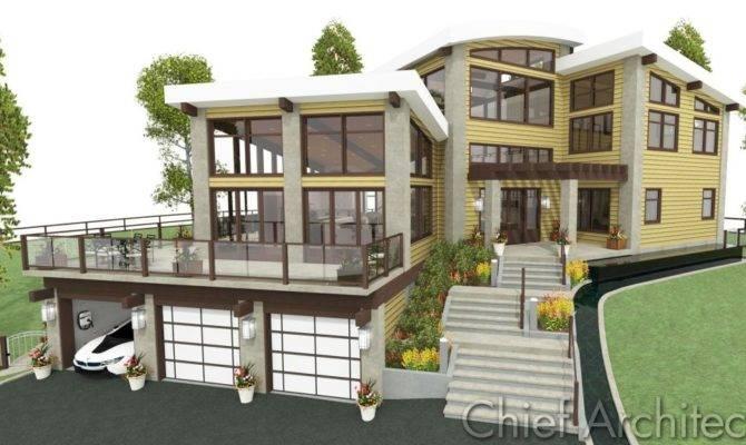 Modern House Plans Lots Windows Elegant Amusing