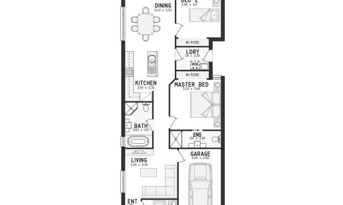Modern House Plans Narrow Plan Lot Garage Floor