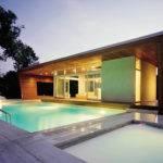 Modern House Plans Pool Doors Swimming Luxurious