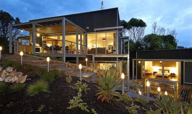 Modern House Plans Sloping Land