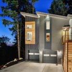 Modern Industrial Home Two Car Garage Wood Plank Lap Siding