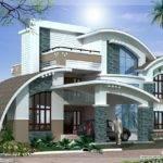 Modern Mix Luxury Home Design Kerala