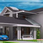 Modern Mix Sloping Roof Home Design Kerala Floor