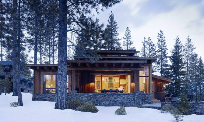 Modern Mountain Cabin Contemporary Comfort Beautiful Interiors