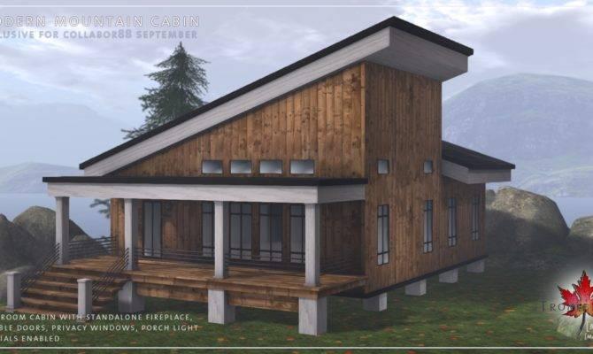 Modern Mountain Cabin Dardon Stone Fireplace Patio Kit
