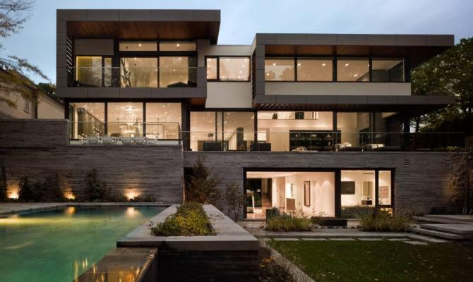 Modern Oasis Takes Mansions Plan House Photos