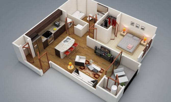 Modern One Bedroom Design Ideas Awesome Inspiration