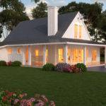 Modern One Story Farmhouse Plans Beds Baths