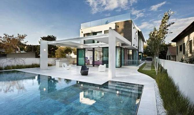 Modern Private House Designs Nice Lighting Fixtures Exterior