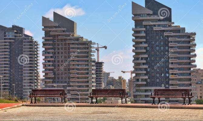 Modern Residential Buildings Ashdod Israel