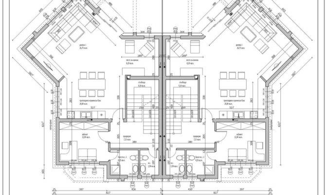 Modern Residential House Plan Drawing Ideas Features
