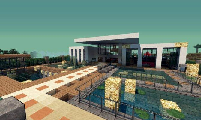 Modern Resort House Minecraft Building Inc
