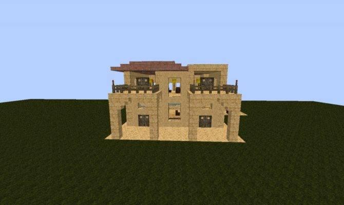 Modern Sandstone House Minecraft Project