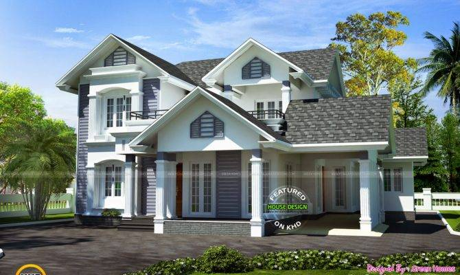 Modern Sloped Roof Bhk House Kerala Home Design