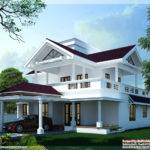 Modern Sloping Roof Home Design Kerala Floor Plans