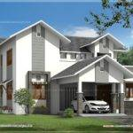 Modern Sloping Roof House Indian Plans