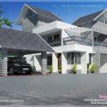 Modern Sloping Roof Luxury House Indian Plans
