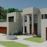 Modern Style House Plan Bedroom Double Storey Floor Plans Bed