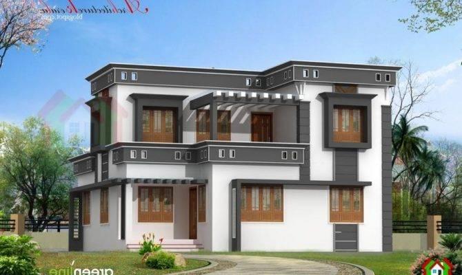 Modern Style Kerala Home Plan Gives