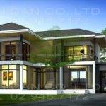 Modern Style Story Home Plans Construction Thai Living Area