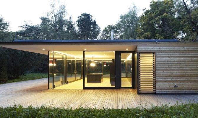 Modern Summer Retreat Wood Glass Haus Hainbach
