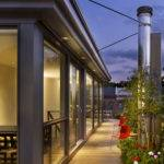 Modern Townhouse Design Rooftop Garden Brett Webber Architects