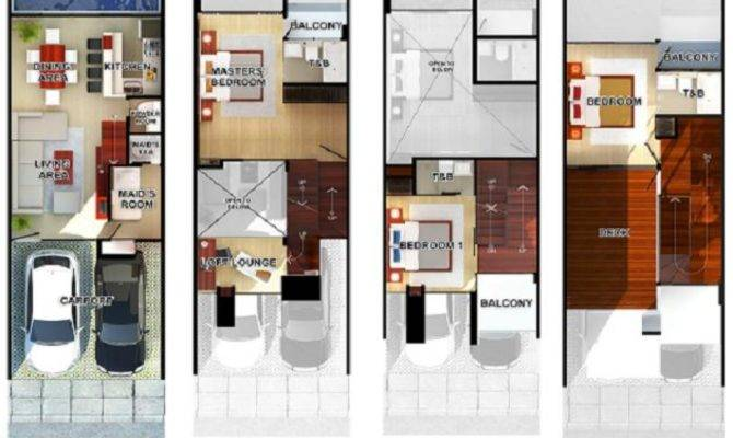 Modern Townhouse Floor Plans Story Lrg