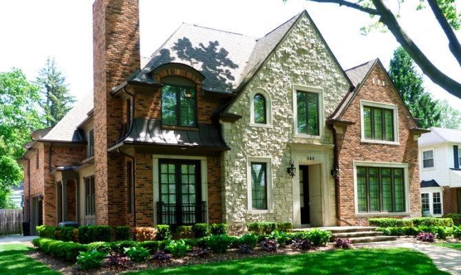 Modern Tudor Style House