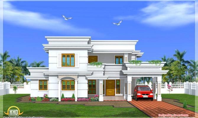 Modern Two Story Bedroom House Kerala Home Design