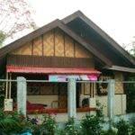 Modern Version Bahay Kubo Half Concrete Native Materials