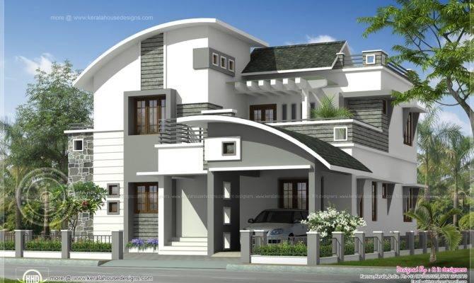 Modern Villa Exterior Home Kerala Plans