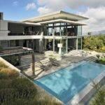 Modern Villa Pool Seen Hill Right Next