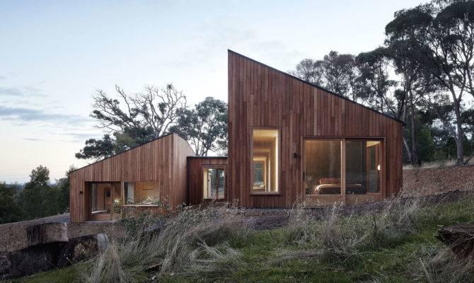 Modern Wood House Two Halves
