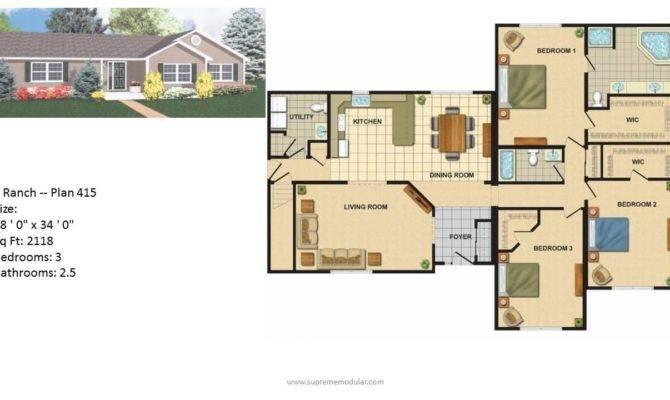 Modular Home Ranch Plans