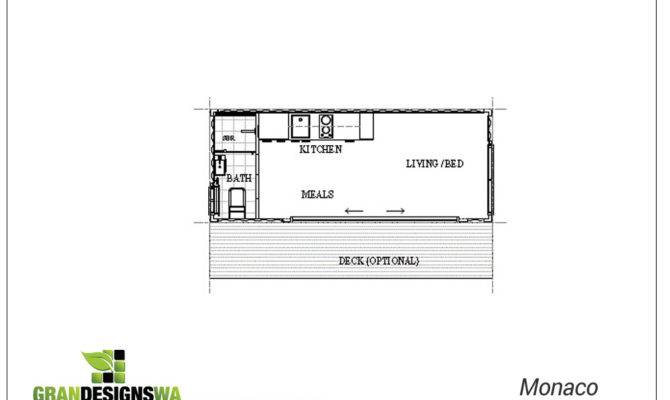 Monaco Granny Flat Studio Floor Plan