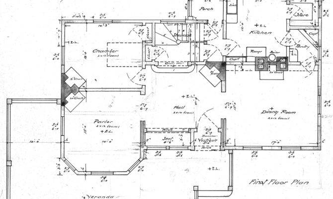 Montford Ave Lon Mitchell Esq First Floor Plan Drawing