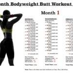 Month Bodyweight Butt Workout Plan