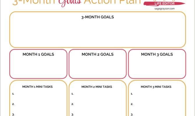 Month Goals Action Plan One Dozens Worksheets