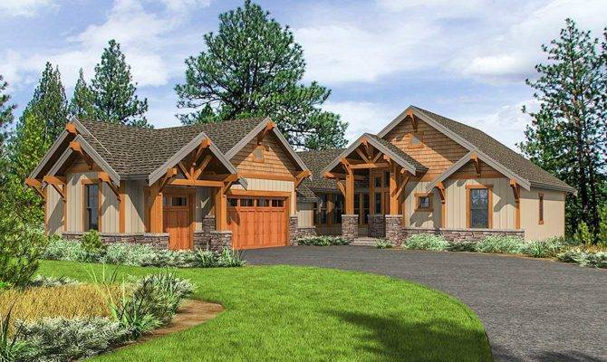 Mountain Craftsman One Level Living