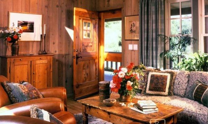 Mountain Home Living Room Farmhouse