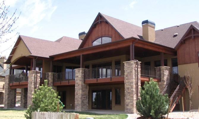Mountain Home Plan Rear House Plans More